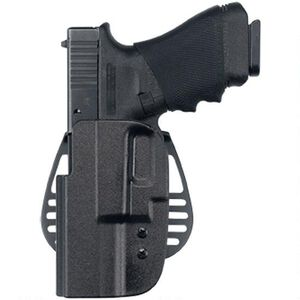 Uncle Mike's Kydex Paddle Holster Size 25 OWB GLOCK 20,21 Left Hand Polymer Black