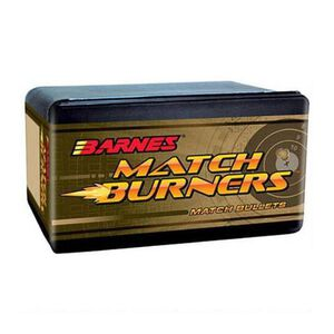 "Barnes Match Burner 6.5mm Caliber .264"" Diameter 120 Grain Hollow Point Boat Tail Projectile 100 Per Box"