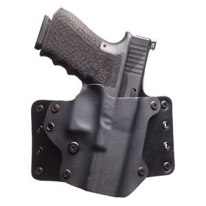 BlackPoint Leather WING Holster SIG P320 Right Hand Leather/Kydex Hybrid Black