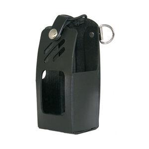Boston Leather 5609 Radio Holder Harris XG-75 D-Ring Nickle Snap Leather Plain Black 5609RC-1