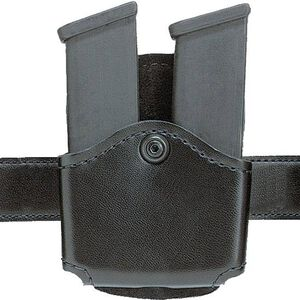 Safariland 572 Concealment Double Magazine Holder Paddle Single Stack Magazines Ambidextrous Plain Black 572-53-2