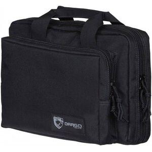 "Drago Gear Double Pistol Case 12.5""x9.5""x4.5"" 600 Denier Polyester Construction Black"