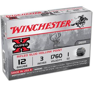 "Winchester Super X 12 Gauge Ammunition 15 Rounds, 3"", 1oz. Rifled Slug"