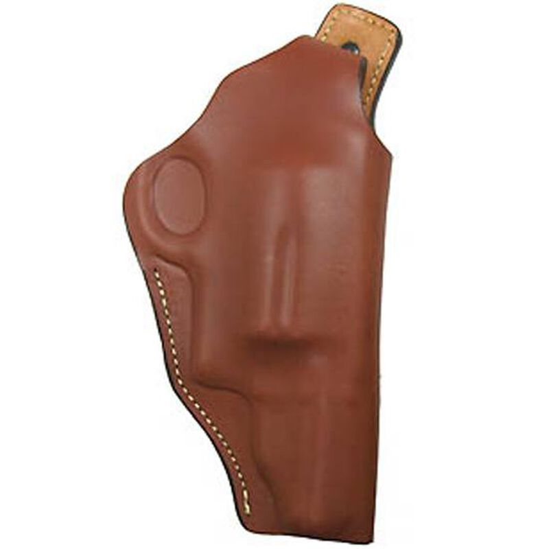 The Hunter Company Pro-High Ride Belt Holster With Thumb Break For S&W Governor Right Hand Draw Top Grain Leather Brown