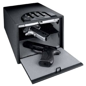 "GunVault Standard Multi Compartment Handgun Safe, 14"" x 10"" x 8"", Steel, Black"
