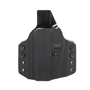 Uncle Mike's CCW Holster fits 1911 with 4 to 5 inch Barrel OWB Left Hand Polymer Black