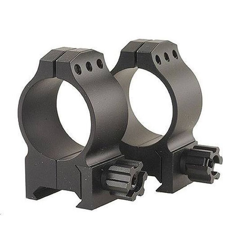 Warne Maxima Tactical 30mm Fixed Scope Rings Medium Matte Black 614M