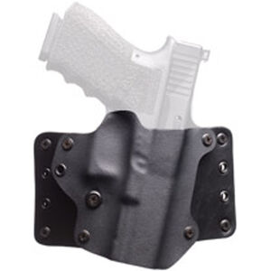 "BlackPoint Leather WING OWB Holster 1911 Compact 3"" Right Hand Leather/Kydex Black 100195"