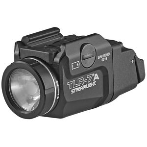 Streamlight TLR-7A Compact Weapon Light 500 Lumen LED White Light CR123A Battery High and Low Switches Aluminum and Polymer Matte Black
