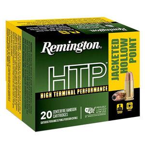 Remington HTP 9mm Luger Ammunition 20 Rounds 115 Grain JHP 1145 fps