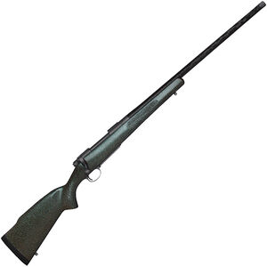 "Nosler M48 Mountain Carbon .26 Nosler Bolt Action Rifle 24"" Carbon Fiber Threaded Barrel 3 Rounds Green Carbon Fiber Stock Gray Cerakote Finish"