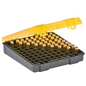 Plano Ammunition Field Box .40 S&W/10mm/.45 ACP Holds 100 Rounds Charcoal/Yellow 1227-00