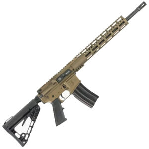 "Diamondback Firearms DB15CCML300B AR-15 Semi Auto Rifle .300 Blackout 30 Rounds 16"" Barrel M-LOK Hand Guard Collapsible Stock Burnt Bronze Finish"