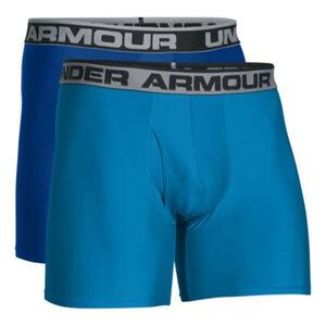 """Under Armour Original Series 6"""" Men's Boxer Briefs XL Royal 2 Pack"""