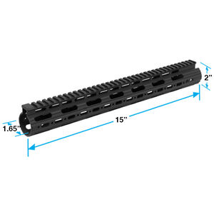"Leapers UTG PRO AR-15 Super Slim Free Float Handguard 15"" Aluminum Black MTU019SS"