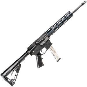 "ATI MILSPORT 9mm Luger AR-15 Semi Auto Rifle 16"" Barrel 31 Rounds Uses GLOCK Style Magazines Freefloat M-LOK Handguard Collapsible Stock Black Finish"