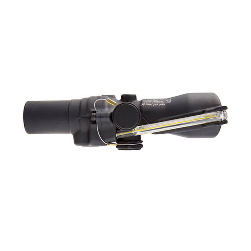 Trijicon ACOG TA45-4 Riflescope 1 5x24 Illuminated Amber Crosshair Reticle  with BAC 1/3 MOA Aluminum Matte Black with M16 Base TA45-4