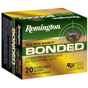 Remington Golden Saber Bonded .357 SIG Ammunition 125 Grain Bonded Nickel Plated Brass JHP 1350 fps