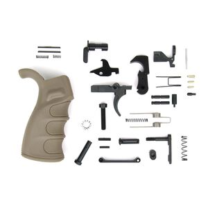 TacFire AR-15 USA Made Lower Parts Kit With Enhanced Pistol Grip Tan LPK02USA-T