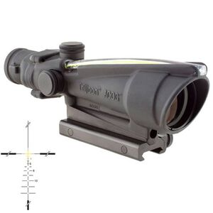 Trijicon ACOG TA11J308-A 3.5x35 Rifle Scope Amber Illuminated Crosshair .308 Ballistic Reticle 1/3 MOA with TA51 Mount Aluminum Black TA11J308-A