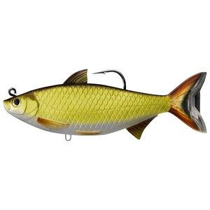 "Live Target Lures Golden Shiner Swimbait 6.5"" #11/0 Hook Medium-Slow Gold/Black"