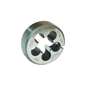 DELTAC 9/16-24 RH HSS Adjustable Round Threading Die TLS140