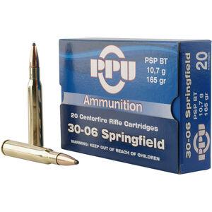 Prvi Partizan .30-06 Spring Ammunition 20 Rounds 165 Grain PSP BT Bullet 2800fps
