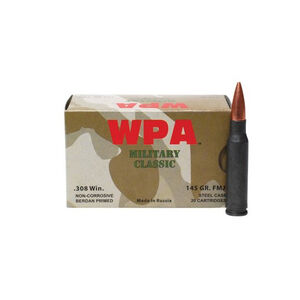 Wolf Performance Military Classic .30-06 Springfield Ammunition 500 Rounds JSP 140 Grains