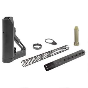 Leapers UTG PRO Model 4 Butt Stock Kit Ops Ready S1 Mil-Spec 6 Position Collapsible AR-15 Stock Black RBUS1BM