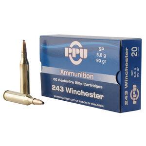 Prvi Partizan PPU .243 Winchester Ammunition 20 Rounds 90 Grain Soft Point 3100fps