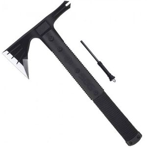 "SOG Survival Hawk 3"" 2CR Steel Blade Black Oxide Finish with Sheath SK1001"