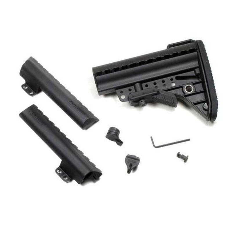 Vltor AR-15 IMOD Improved Modstock Mil-Spec Standard Black Battery Storage Butt Pad Black AIB-MSB