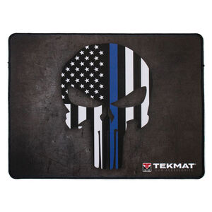 TekMat Punisher Blue Line Ultra Premium Gun Cleaning Mat Neoprene
