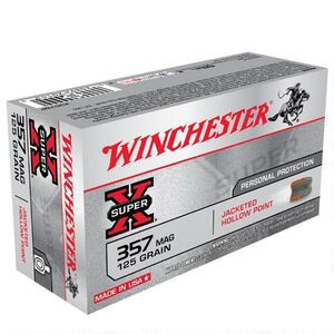 Winchester Super X .357 Magnum Ammunition 500 Rounds, JHP, 125 Grain