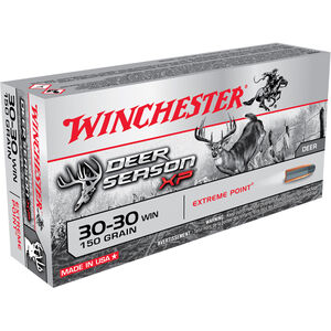 Winchester .30-30 Winchester Ammunition 20 Rounds Deer Season XP PT 150 Grains