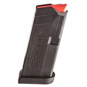 Amend2 GLOCK 43 6 Round Magazine 9mm Luger Heavy Duty Spring Impact Resistant Polymer Matte Black