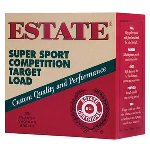 "Estate Super Sport Target 12 Gauge Ammunition 250 Rounds 2.75"" #8 Lead 1.125 Ounce SS12H8"