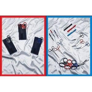 EMI Colormed Basic EMS Holster Set Black Nylon Red 808