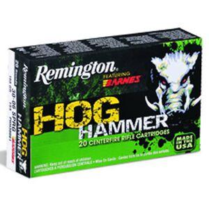 Ammo .30-06 Springfield Remington Hog Hammer 168 Grain Barnes TSX Bullet 2790 fps 20 Rounds 27703