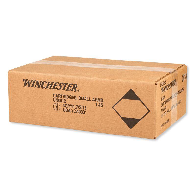 Winchester USA 7.62 NATO Ammunition 200 Rounds FMJ 147 Grains Q3130