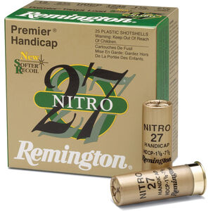 "Ammo 12 Gauge Remington Premier Nitro 27 Target Load 2-3/4"" #7.5 Lead 1 Ounce 1290 fps 250 Round Case STS12NH17"