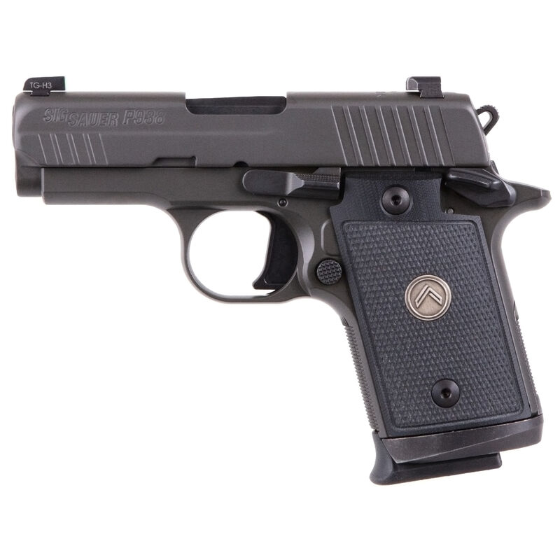 "SIG Sauer P938 Legion Micro-Compact 9mm Luger Semi Auto Pistol 3"" Barrel 7 Rounds X-RAY3 Sights G10 Grips Legion Gray Finish"
