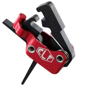 Elftmann Tactical ELF-SE AR-15 Trigger Standard Small Pin Straight Trigger Shoe 3.5lb Non Adjustable Trigger Pull Ultra Light Red Hosing Black Trigger