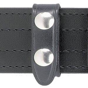 """Safariland Model 65 Belt Keeper for 2.25"""" Duty Belt,  2 Chrome Snaps,  Cordovan Basketweave Black  , 4 Pack"""