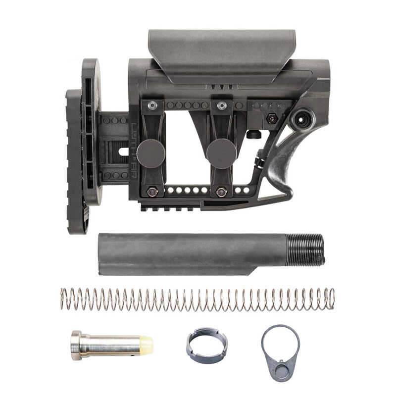 Luth-AR LR-308/AR-10 MBA-3 Stock Assembly Commercial Tube .308 Carbine Buffer And Spring Black MBA-3K308-C