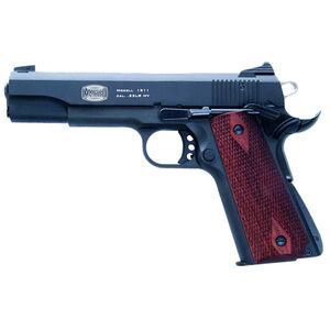 "Blue Line Global Mauser 1911 .22 Long Rifle Semi Auto Pistol 5"" Barrel 10 Rounds Adjustable Sights Aluminum Slide Walnut Grips Blued Finish"