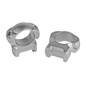 """Weaver 1"""" Grand Slam Steel Top Mount Rings Medium Silver"""