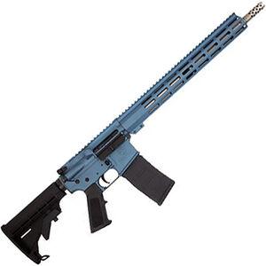 "GLFA .223 Wylde AR-15 Semi Auto Rifle 16"" Stainless Steel Barrel 30 Rounds 15"" Free Float M-LOK Handguard Collapsible Stock Blue Cerakote Finish"