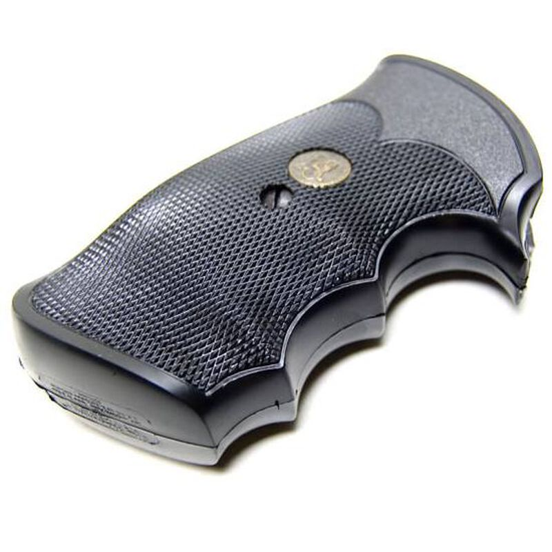 Pachmayr Gripper Grip Colt Medium Revolvers Finger Grooves Rubber Black 02528