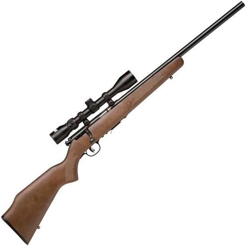 "Savage Model 93R17GVXP Package Series Rimfire Bolt Action Rifle .17 HMR 21"" Barrel 5 Rounds Mounted Riflescope Walnut Stock Blued Barrel 96222"